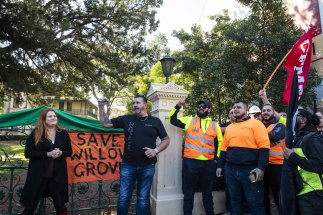 "CFMEU NSW secretary Darren Greenfield placed a ""green ban"" blocking demolition works on Parramatta's historic Willow Grove and St George's Terrace buildings in June."