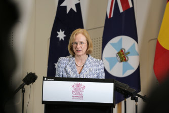 """""""I'm fairly confident that that cluster is in hand"""": Queensland Chief Health Officer Jeannette Young."""