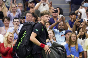 Jenson Brooksby took the first set off Djokovic but couldn't win another.