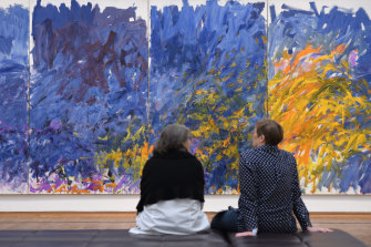 The painting 'Edrita Fried 1981' by Joan Mitchell