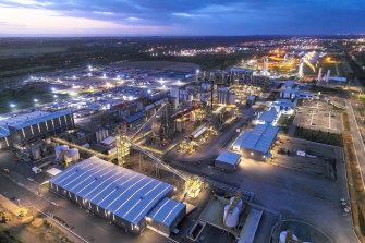 The IGO-Tianqi Lithium hydroxide refinery at Kwinana.