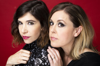 Sleater-Kinney's Carrie Brownstein (left) and Corin Tucker.