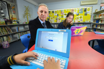 Philip Cachia, the principal of Our Lady Help of Christians school in Brunswick East, says the school will revert to paper for next year's NAPLAN test.