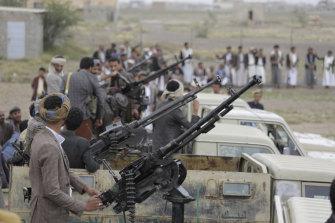 Houthi rebels in Sanaa, Yemen, last month.