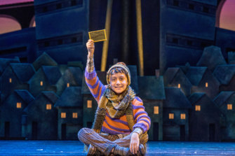 Oliver Alkhair as Charlie in Charlie and the Chocolate Factory - The New Musical.
