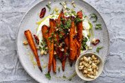 Chilli-roasted carrots