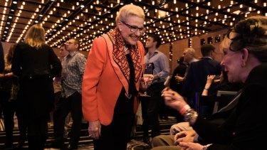 Former Liberal Speaker Bronwyn Bishop arrives at the Sofitel in Sydney.