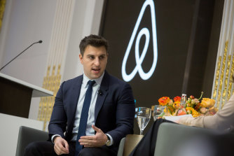 Airbnb founder Brian Chesky's stake would be worth around $US3.8 billion if it reaches its target price.