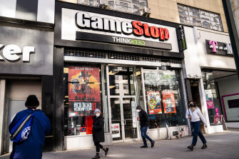 GameStop shares are down by around 50 per cent on Tuesday.