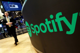 Spotify is listed on the New York Stock Exchange.