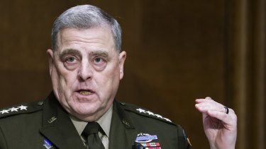 """Chairman of the Joint Chiefs Chairman General Mark Milley  defends the military from accusations that it's """"woke""""."""