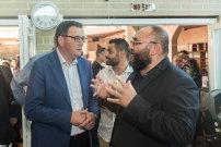 Premier Daniel Andrews at Preston Mosque with Preston Mosque Association president Tarek Khodr.