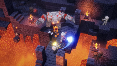 Minecraft Dungeons may look blockily familiar, but there's no base-building here.