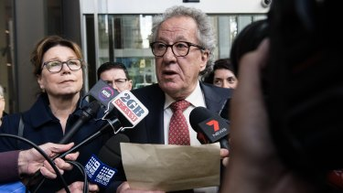 Geoffrey Rush responds to the Federal Court judgment on Thursday.