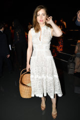 Add a statement bag to give an outfit a whole new look, like actress Melissa George.