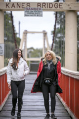 Friends Catherine Cervasio and Helen Reizer take long walks by the Yarra for social connection during isolation  and say they feel far better for it.