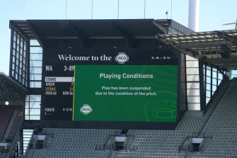 The Sheffield Shield clash at the MCG between Victoria and Western Australia was halted then abandoned due to safety concerns over the pitch.