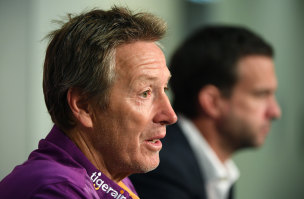 Concerned: Melbourne Storm coach Craig Bellamy.