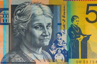 Edith Cowan pictured on the $50 note,
