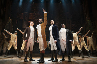 The hit hip-hop musical Hamilton, coming to Sydney in March.