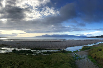 The Isle of Arran from Scalpsie Bay, Bute, Scotland.
