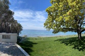 The Ari Burnu Cemetery on the Gallipoli Peninsula, where the Dawn Service was held until 2000.