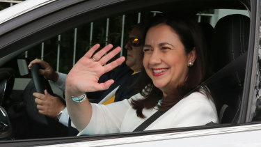 Queensland Premier Annastacia Palaszczuk as she visited Governor Paul de Jersey on Friday.