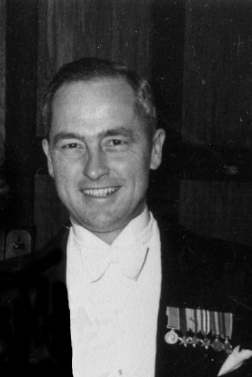 Ralph Churches with his service medals.