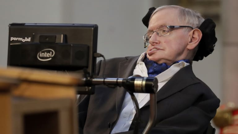 Professor Stephen Hawking, whose brilliant mind ranged across time and space though his body was paralysed by disease, has died.