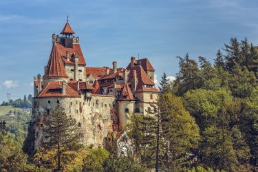 Bran, Romania - September 22, 2015: Bran Castle, also known as Dracula Castle. Its fame is created around Bram Stokerâs character, Count Dracula, often identified as Vlad Tepes (Vlad the Impaler). Transylvania iStock image for Traveller. Re-use permitted.