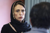 A new movie about the 2019 Christchurch terror attack would centre on the response of NZ Prime Minister Jacinda Ardern (pictured here days after the shooting).