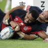 England run in seven tries to down US at Rugby World Cup