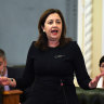 Queensland Premier Annastacia Palaszczuk in state Parliament on Tuesday.