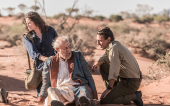 Jessica De Gouw, James Cromwell and Ewen Leslie in Operation Buffalo.