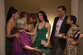 Melissa Barrera (centre) with (from left) Stephanie Beatriz, Olga Merediz, Dascha Polanco, Jimmy Smits and Daphne Rubin-Vega.