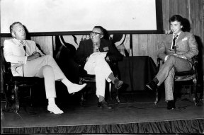 Armchair Interview at Wentworth Hotel - Mr William Ford, head of the department of Industrial Relations University of New South Wales interviewing the Premier of South Australia, the Hon. D.A. Dunstan and Alderman J.R. McIlwain, city of the Gold Coast, 1972.