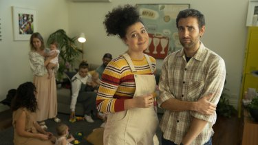 Rose Matafeo and Matthew Lewis star as unwitting parents-to-be Zoe and Tim.