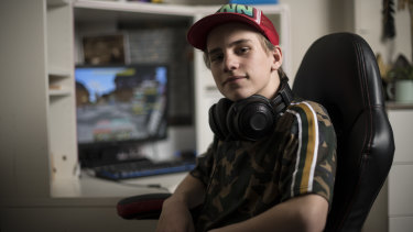 Gamer Finnian Lounsbury, 12, has grown bored of Fortnite after playing for up to four hours a day last year.