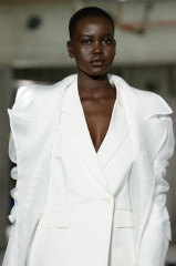 Adut Akech walks in the Highrise Runway at Melbourne Fashion Week.