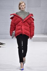 Too edgy? Balenciaga's off-shoulder version in 2016.