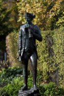 The statue of Captain James Cook in the Fitzroy Gardens