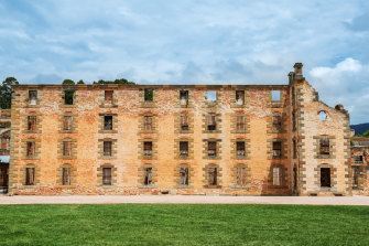 """The penitentiary building: """"It must be the most violent place in Australia. It seemed the right place,"""" Martin Bryant reportedly said."""