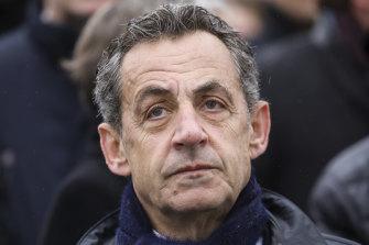 French former president Nicolas Sarkozy.