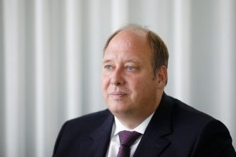 AAngela Merkel's chief of staff Helge Braun, who is advocating restrictions for the unvaccinated.