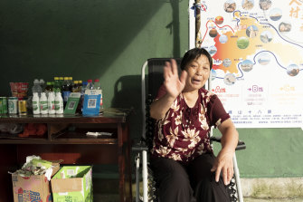 Tang Yaxue, 65, and her husband are the only two villagers who have returned to work in Houtouwan.