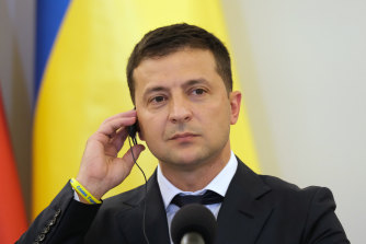 Trump's phone call with Ukraine President Volodymyr Zelensky, pictured, is one piece of a whistleblower's complaint.