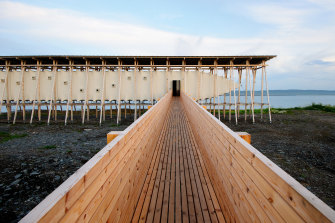 The Steilneset Memorial in Vardo, Norway, by Peter Zumthor and Louise Bourgeois (2011) remembers the 91 townsfolk who, from 1600 to 1692, were convicted of witchcraft and burned at the stake.