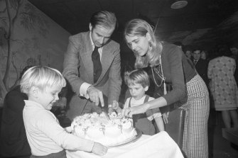 Beau (at left) and Hunter with Joe and Joe's first wife (and the boys' mother), Neilia, in 1972.