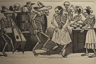 Mexican artist José-Guadalupe Posada's images are steeped in the Dionysian revelry of traditional Day of the Dead celebrations.