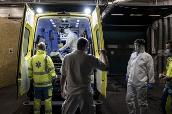 Hospitals have again reached crisis point in Belgium.